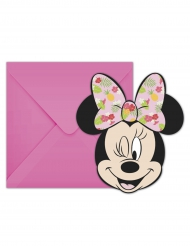 6 Cobnvites com envelopes Minnie™ Tropical