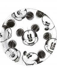 25 Pratos de cartão Mickey™ retro preto e branco