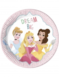 8 Pratos de cartão 23 cm Princesas Disney™