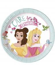 8 Pratos pequenos de cartão Princesas Disney™