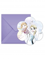 6 Convites com envelopes Frozen™