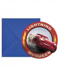 6 Convites com envelope Cars 3™