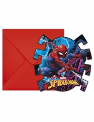 6 Convites com envelopes Spiderman™