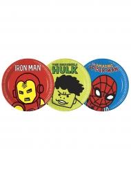 8 Pratos de cartão Avengers™ pop comic 23 cm