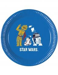 8 Pratos de cartão Star Wars Forces™ 20 cm