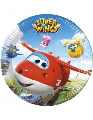 8 Pratos de cartão Super Wings™