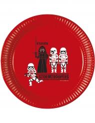 8 Pratos de cartão Star Wars Forces™