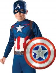 Kit máscara e escudo metalizado Captain America™ criança