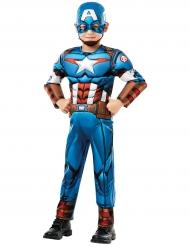 Disfarce luxo Captain America™ desenho animado menino