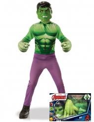Coffret - Hulk™ clássico com luvas gigantes menino