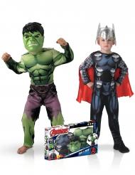 Disfarces clássicos Hulk™ e Thor™ menino - Coffret