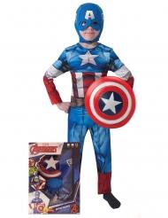 Disfarce Captain America™ com escudo menino