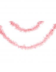 Grinalda de papel cor-de-rosa pálido 7 m