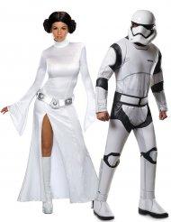 Disfarce de casal Princesa Leia e Stormtrooper™ - Star Wars™
