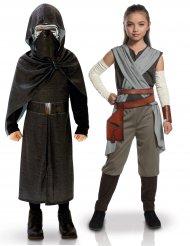 Disfarce de casal Kylo Ren e Rey crianças - Star Wars™