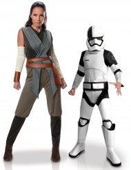 Disfarce de casal Rey e Tango Black Stormtrooper mãe e filho - Star Wars™