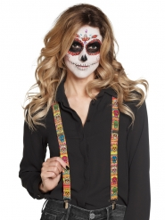 Suspensórios mexicanos adulto Dia de los muertos