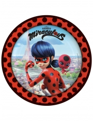 8 Pratos de cartão Ladybug™ em Paris 23 cm