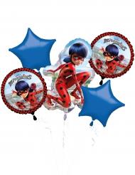 Ramo de 5 balões de alumínio Ladybug™