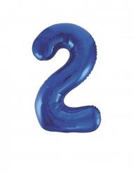 Balão alumínio azul número 2 - 50 x 88 cm