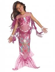 Disfarce sereia cor-de-rosa menina