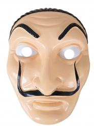 Máscara ladrão plástico adulto