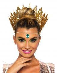 Coroa rainha dourada sexy mulher