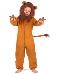 Disfarce leão efeito polar criança