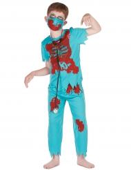 Disfarce cirurgião zombie menino