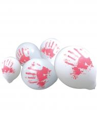 10 Balões mãos sangrentas