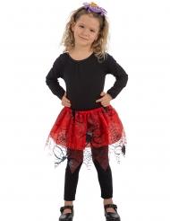 Tutu vermelho aranhas pretas menina