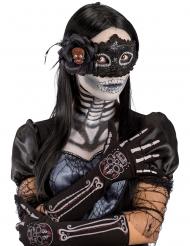Luvas esqueleto Dia de los muertos mulher