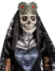 Máscara em tecido Dia dos Mortos adulto