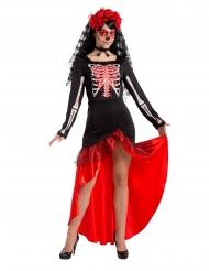 Disfarce dançarina de flamenco Dia de los muertos mulher