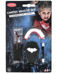 Mini kit acessórios e maquilhagem vampiro
