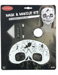 Kit de maquilhagem e máscara esqueleto