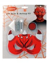 Kit maquilhagem e máscar de diabo