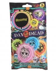5 Balões led Illooms™ várias cores Dia de los muertos