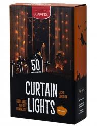 Decoração interior grinalda cortina luminosa 50 LED cor de laranja