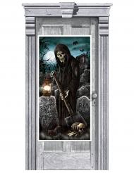 Decoração de porta cemitério assombrado 165 x 85 cm