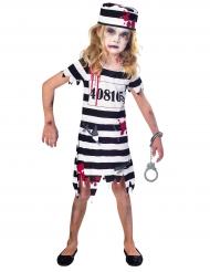 Disfarce prisioneira zombie sangrenta menina