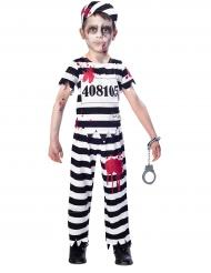 Disfarce prisioneiro zombie menino