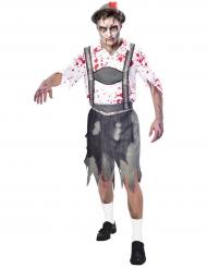 Disfarce Oktoberfest zombie homem