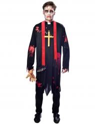 Disfarce padre zombie homem
