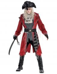 Disfarce pirata zombie homem