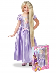 Coffret Princesa Rapunzel™ com lantejoulas e peruca menina