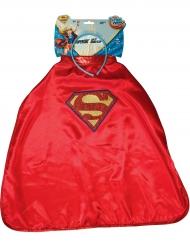 Capa e bandolete Supergirl™ Super Hero Girls™ criança