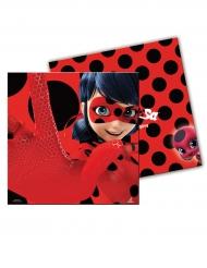 20 Guardanapos de papel Ladybug™ vermelhos às pintas 33 x 33 cm