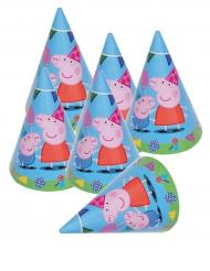 6 Chapéus de festa Peppa Pig™