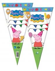 6 Sacos de festas Peppa Pig™ 20 x 40 cm